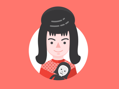 Lydia Deetz tim burton beetlejuice film movie portrait illustration