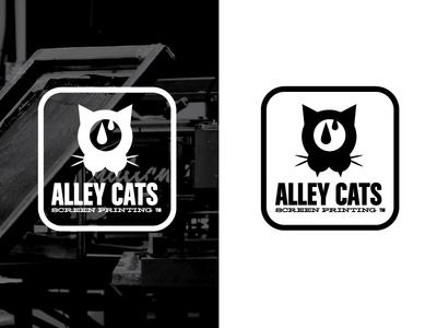 Alley Cats Stamp icon studio printing symbol stamp badge