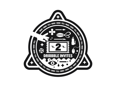 New Year Invites illustration portfolio dribbble badge invites invite