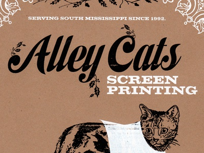 Alley Cats Screen Printing Flyer collage neenah two color dover flyer screen printing