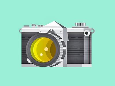 Nikon F nikon vintage tones illustration camera