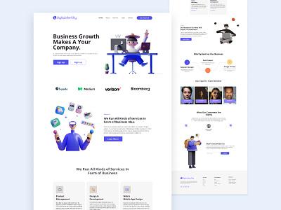 Digital Identity Agency - Landing Page graphic design 3d design web ui  ux website redesign web design ui web design ui design landing page