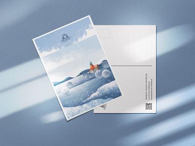 postcard mockup2 poland digital art illustrator landscape illustration landscape illustration digital painting