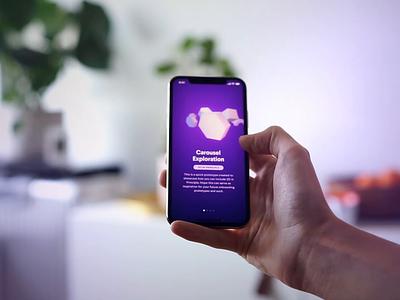 3D in Principle animation 3d iphone onboarding ui design mobile app ios prototype principleapp principle