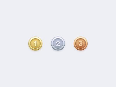 Winner Winner olympics silver bronze gold medals medal emoji design ui icon