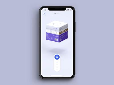 Open box lootbox prototype ui transition 3d cinema4d animation app mobile ios