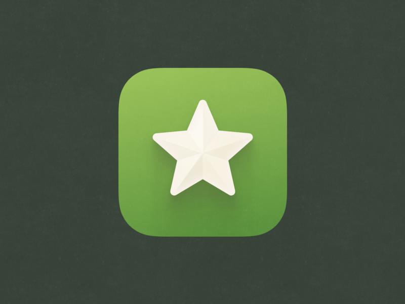 Esperanto star green ui design app  design app iphone ios icon