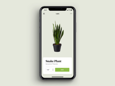 Add Plant product design mobile swipe plants interactive micro interaction animation ui design app iphone ios