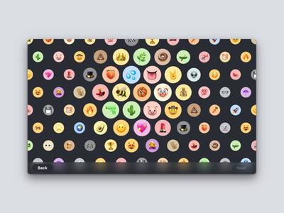 Select Emoji (v2) desktop product design avatar prototype website web interaction hover icons emoji site ui design