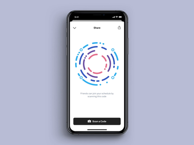 Custom QR ios13 micro interaction animation qr ui app mobile ios