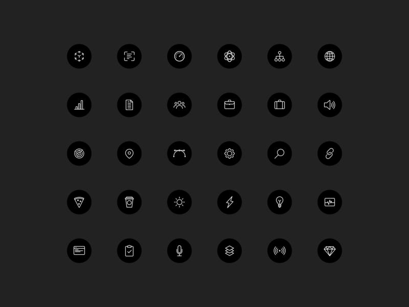80+ Icons vector design tech outline icon design iconography ui icon set icon