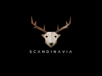 Scandinavia logo low poly