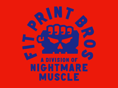 Fit Print Bros. Logo screen print bold fist hand branding logo design badgedesign brand identity screen printing