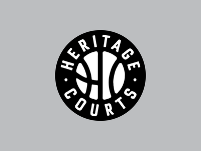 Heritage Courts Badge illustration basketball badge design