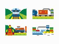 Latvia EXPO Astana 2017 - Spot illustrations Pt. 1