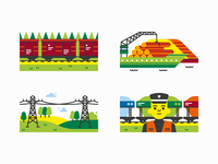 Latvia EXPO Astana 2017 - Spot illustrations Pt. 2
