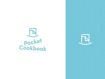 Pocket Cookbook - Logo mark logotype brand identity kitchen recipe book pocket logomark identity branding brand texture design logo