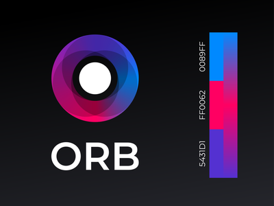 Orb | Brand blue red dark orb logo illustration ui typography digital minimal konnect design branding app