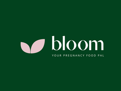 Bloom - Your Pregnancy Food Pal | Brand minimal design konnect app branding