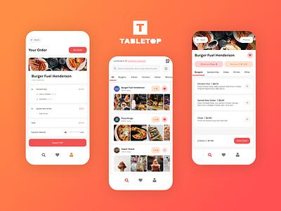 Tabletop App colorful colourful minimal eating restaurant ordering app food ux ui app design konnect
