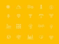 Entrepreneurial Icon set