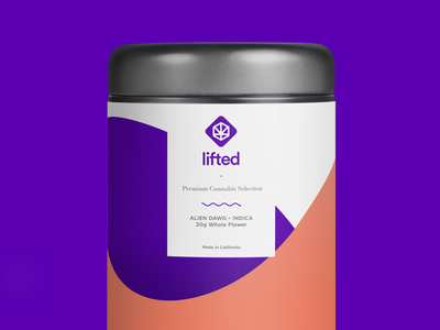 Lifted Packaging - 20g Tin weed smoke marijuana cannabis logo cannabis packaging tin can pack packagingdesign packaging package lifted illustration application logo design concept digital design branding logo brand