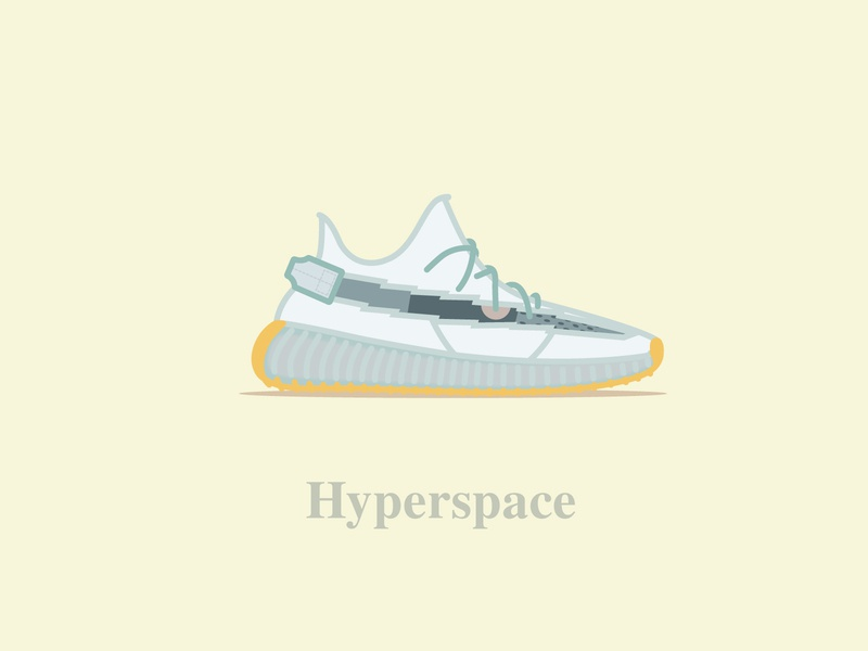 Yeezy Boost 350 - V2 - Hyperspace ultraboost kayewest kanye collab offwhite calabasas adidas digital typography icon design concept vector boosted illustration shoes hyperspace 350 boost yeezy