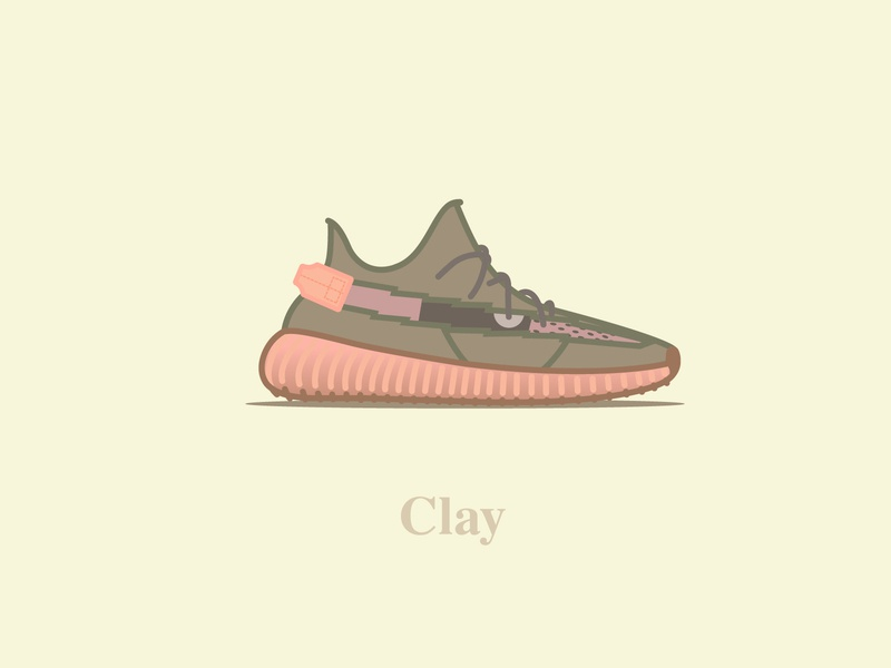 Yeezy Boost 350 - V2 - Clay logo vector typography concept icon illustration design digital yeezy calabasas kanyewest ultraboost shoes v2 350 yeezyboost