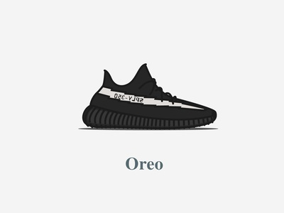 Yeezy Boost 350 - V2 - Core Black (Oreo)