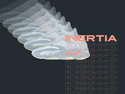 Yeezy Boost 700 - Inertia application web brand icon vector typography concept design digital sneakers illustration shoes yeezyseason yeezus yeezy 700 yeezy boost inertia