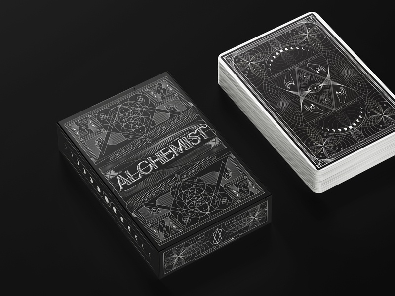 Alchemist - Playing Cards concept vector icon illustration brand dark sacredart geometrical sacredgeometry design cartamundi playing card playingcards