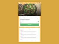 Restaurant app - Detail Page