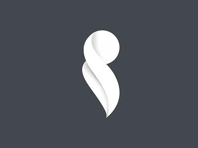 S logotype s non-flat white