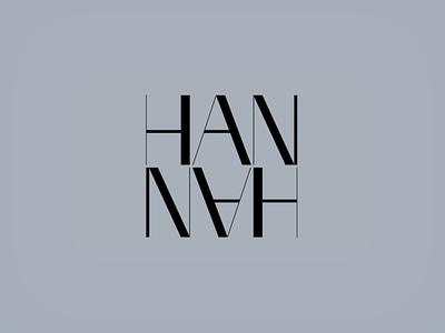 HANN∀H logotype custom type typography