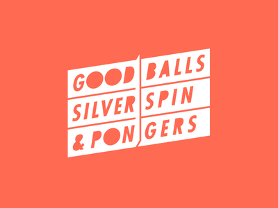 Goodballs Silverspin & Pongers ping-pong logotype gsp goodby silverstein  partners goodballs silverspin  pongers typography