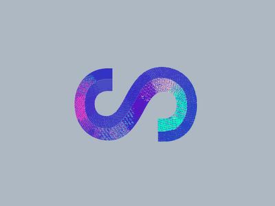 S logotype custom type typography gradient