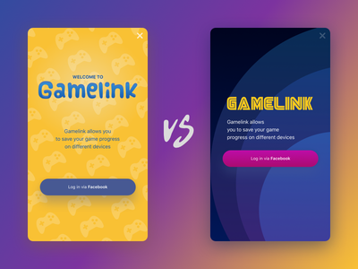Gamelink sign up login interface mobile game unity android ux ui app ios