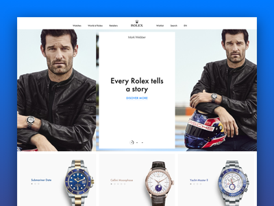 Rolex (main page) web design rolex ui ux desktop watch luxury ecommerce swiss