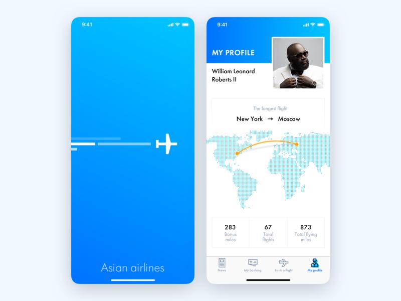 Air App travel splashscreen map gradient blue aircraft air flight design ios mobile app ux interface ui