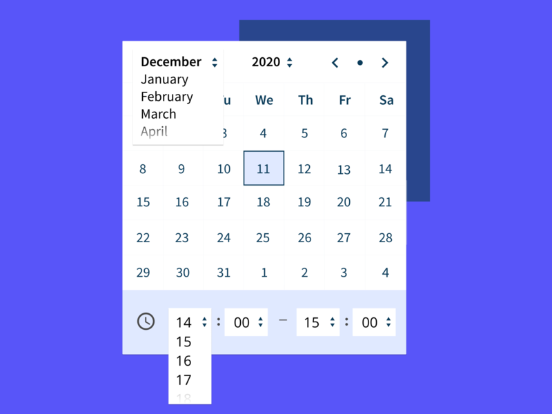 Calendar Date & Time UI dropdown selection booking appointments timepicker datepicker time date ui  ux uiux ui calendar ui calendar