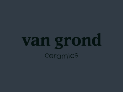 Van Grond Ceramics branding identity brand wordmark ceramics typography type logo design logo