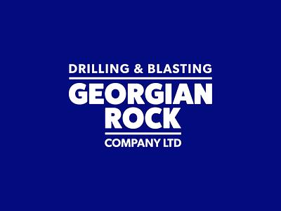 Drilling & Blasting Logo column freelance wordmark typography logo
