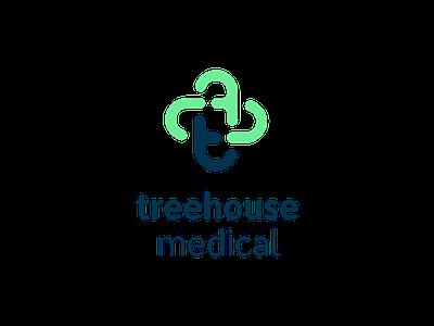Treehouse Medical ui icon web app design minimal freelance medical healthcare graphic brand logo design wordmark identity branding logo