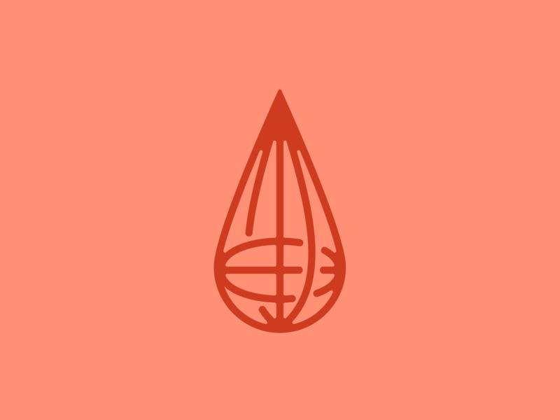 Immunity Platform Logo globe droplet water drop world logodesign brand branding healthcare minimal logo design logo