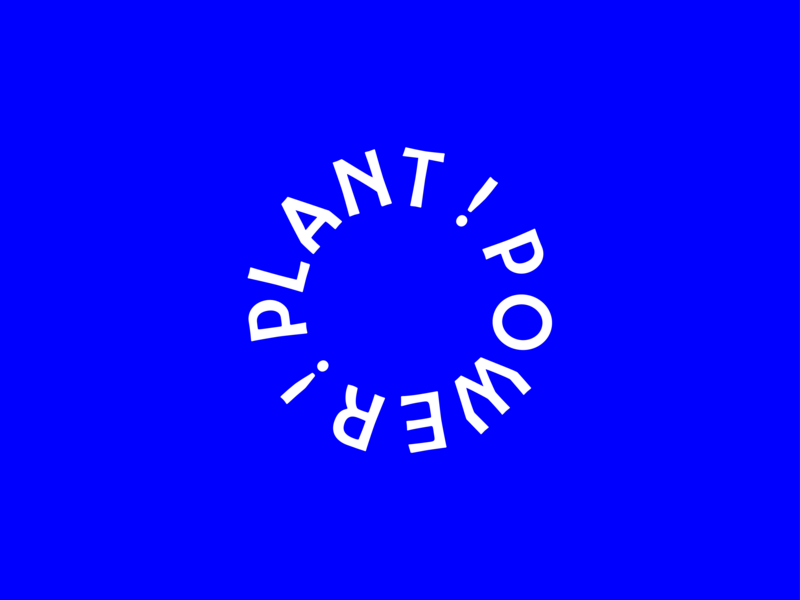 Plant Power ! typography type plants positive power plant power plantbased plant identity bright vegetarian vegan brand logo design logo