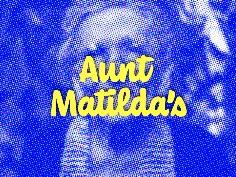 Aunt Matilda's pixelate pixelation restaurant logo restaurant brand retro logo retro brand identity logo wordmark branding brand restaurant