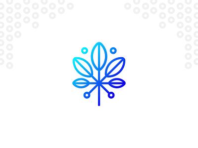cannabis logo gradient icon minimalist logo minimal cannabis logo gradient geometric logo design logo cannabis