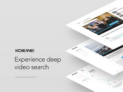 Koemei Presentation Deck deck presentation search transcription transcript web interface web application ui ux video web design web app