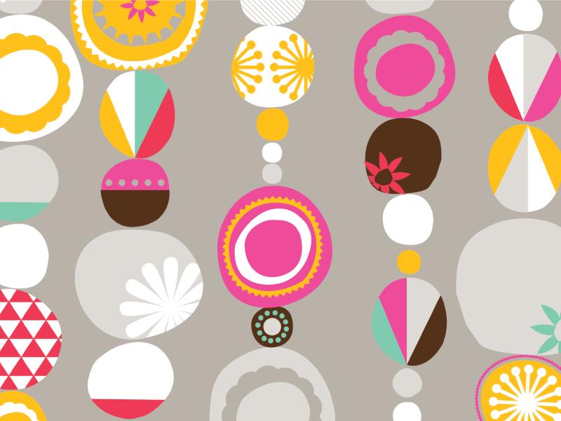 Circles Pattern pattern circles illustration surface flowers