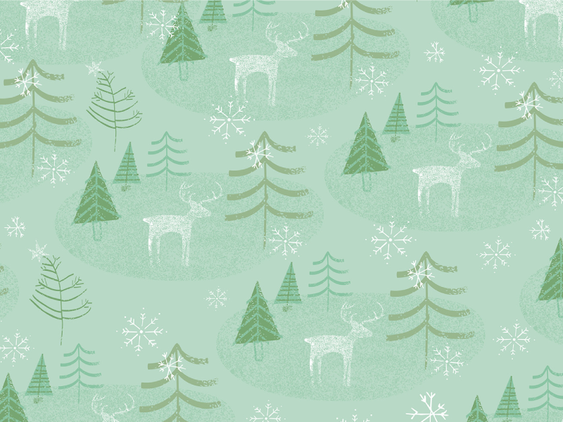 Juniper Winter Holiday Pattern Collection surtex surface design pattern illustration holiday trees christmas color moose snow snowflakes